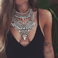 Manerson Bohemian Statement Necklaces Vintage Colar Collier Femme Choker Collar MultiLayer Necklace for Women Gipsy Style
