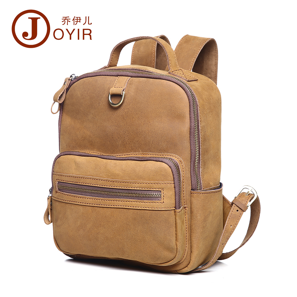 ФОТО JOYIR Vintage women backpack genuine leather bag new designer first layer cowhide leather women bag casual free shipping 6305
