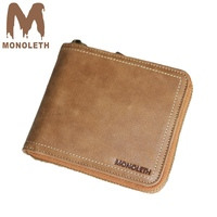 MONOLETH Genuine Leather Wallet Coin Pocket Men Wallets Male Purse Wallet Men Card Holder Coin Purse