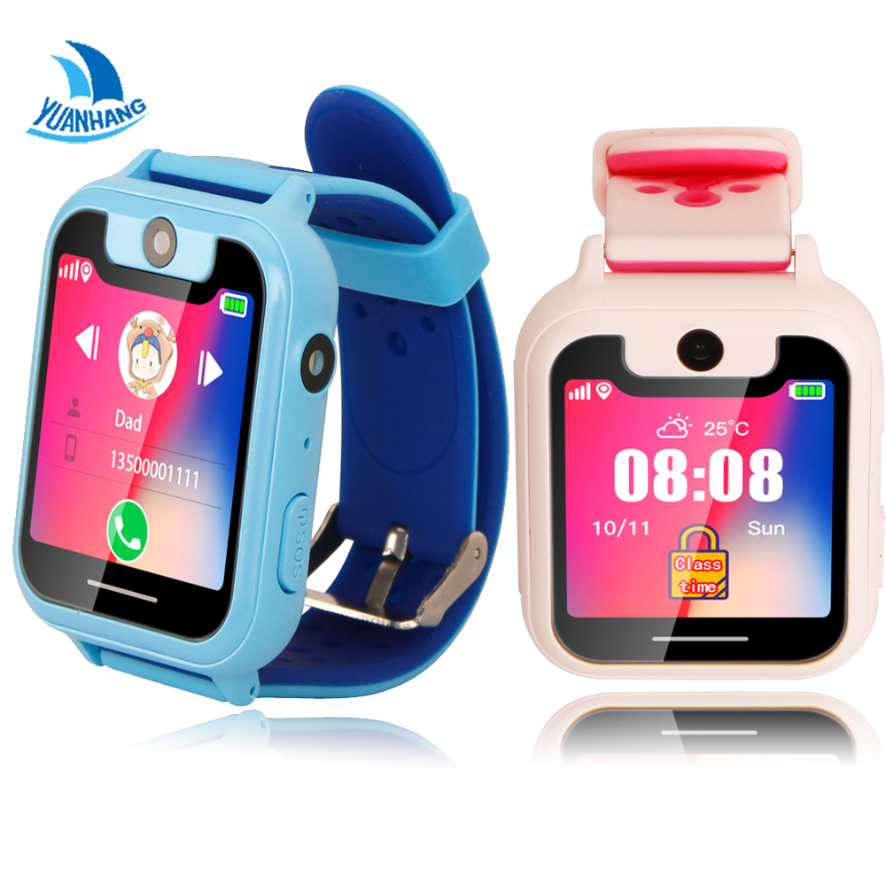 2018 Smart GPRS LBS Real-time Tracker Location SOS Call Remote Camera Monitor Flashlight Kids Child Watch Student Wristwatch