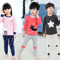 New Autumn Cartoon Pajamas For Girls Boys Children's Pajamas Long-sleeves Cotton 2pcs Pyjamas Set Baby Clothes Kids Sleepwear