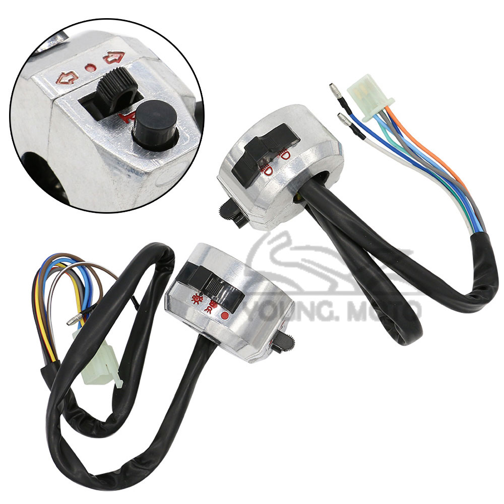 78 Motorcycle Switch ON OFF Handlebar Chrome Turn Signal