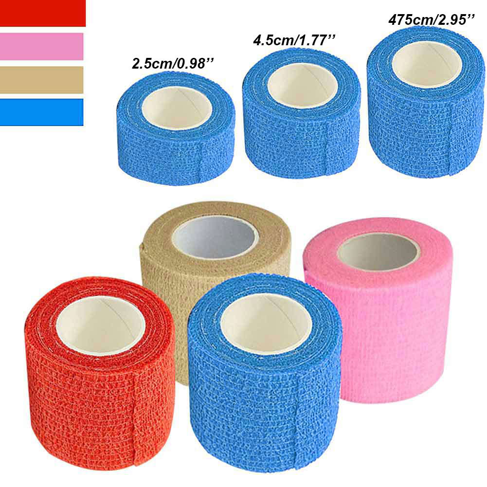 Self Adhesive Ankle Finger Muscles Care Elastic Medical Bandage Gauze Tape Sports Wrist Support shop BB55