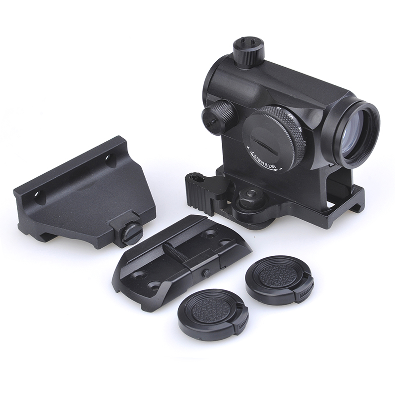 SEIGNEER Tactical 1X24 <font><b>T1</b></font> <font><b>Red</b></font> Green <font><b>Dot</b></font> Sight Illuminated Sniper Rifescope for 5/8