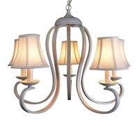 Tela blanca para sombras  candelabro de hierro  accesorios de iluminación  candelabro de techo lustre luminaria E14  lámpara para dormitorio  sala de estar