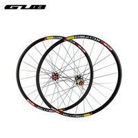 2 шт./лот GUB XC1750 26 дюймов колесо группа горных велосипедов с 24 отверстие прямо Рисование нержавеющая сталь сотрудничал медь головкой