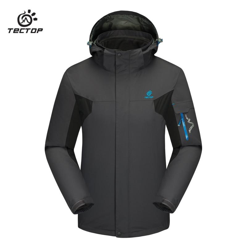 Prix pour Randonnée en plein air vestes d'hiver coupe-vent Escalade ski sport plus taille étanche hommes en plein air veste 3 en 1 pour hommes