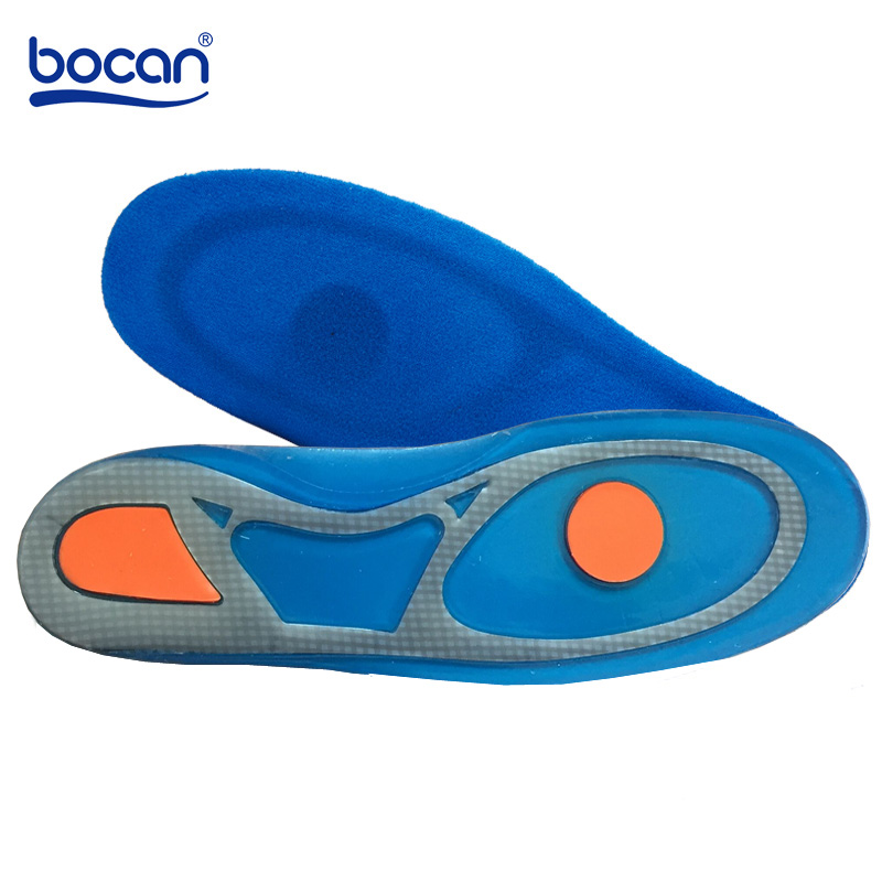 Bocan Silicon Gel Insoles Foot Care for Plantar Fasciitis Heel Spur Shoe Insoles Shock Absorption Pads arch orthopedic insoles expfoot orthotic arch support shoe pad orthopedic insoles pu insoles for shoes breathable foot pads massage sport insole 045