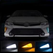 Neue Auto Zubehör LED DRL Tagfahrlicht Tageslicht nebelscheinwerfer LED nebelscheinwerfer für Toyota Camry 2015