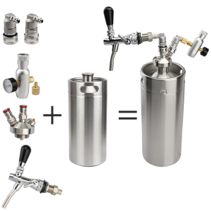 Image 5 - home brewing stainless steel mini keg 10L Beer Keg High Quality Pressurized Mini Growler ,Keg Growler Set with Beer Faucet Tap