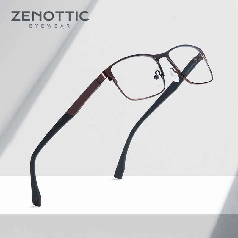 dc8cafe7e49 ZENOTTIC Optical Prescription Glasses Men Hyperopia Myopia Eyewear  Photochromic Anti-Blue-Ray Eyeglasses Frame