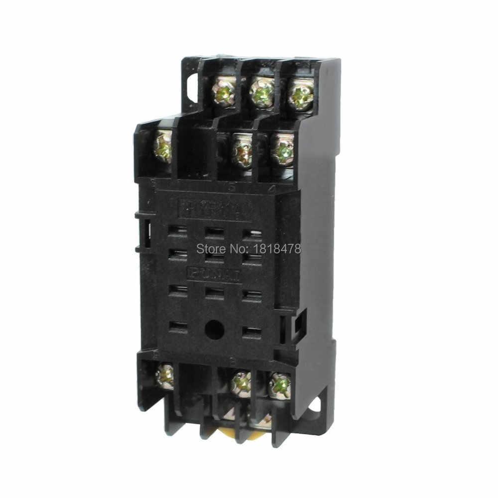 DYF11A 11 broches DIN support de prise de relais de puissance de montage sur Rail pour HH53P MY3