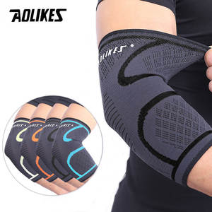 AOLIKES 1 PCS Elbow Support Elastic Gym Sport Elbow Protective Pad Absorb Sweat Sport