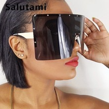 Oversize Winfproof Sunglasses For Women One Piece Big Lens Square Sun Glasses Me