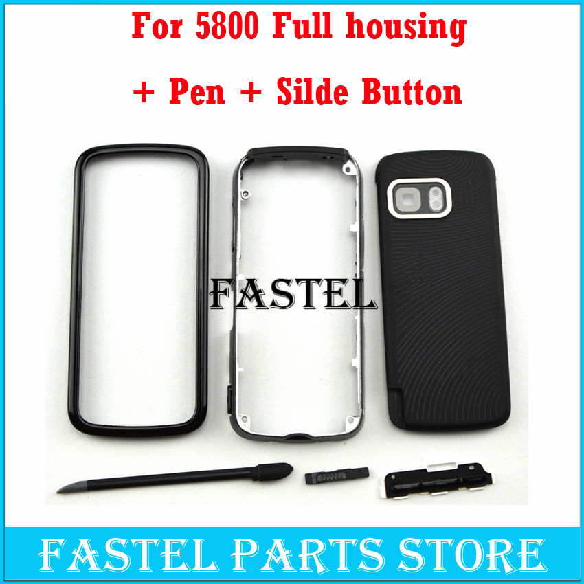 For Nokia 5800 High Quality New Full Complete Mobile Phone Housing Cover Case + English/Russian/Arabic Keypad With Tracking