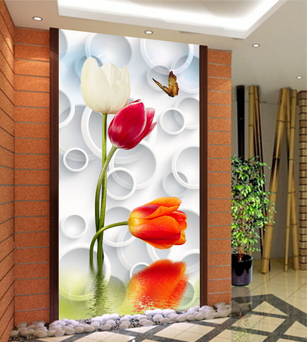 Aliexpress com   Buy 100X200CM Luxury Best Silk HD 3D Tulip Flower Large  Murals Wall Painting Home Decoration Large 3D Art Picture On Silk Prints  from. Aliexpress com   Buy 100X200CM Luxury Best Silk HD 3D Tulip Flower