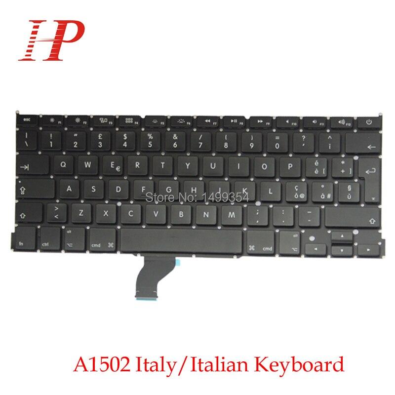"Macbook Pro Retina 13 ""A1502 İtalyan/İtalya Klavye BT Klavye Değiştirme ME864 ME865 ME866"
