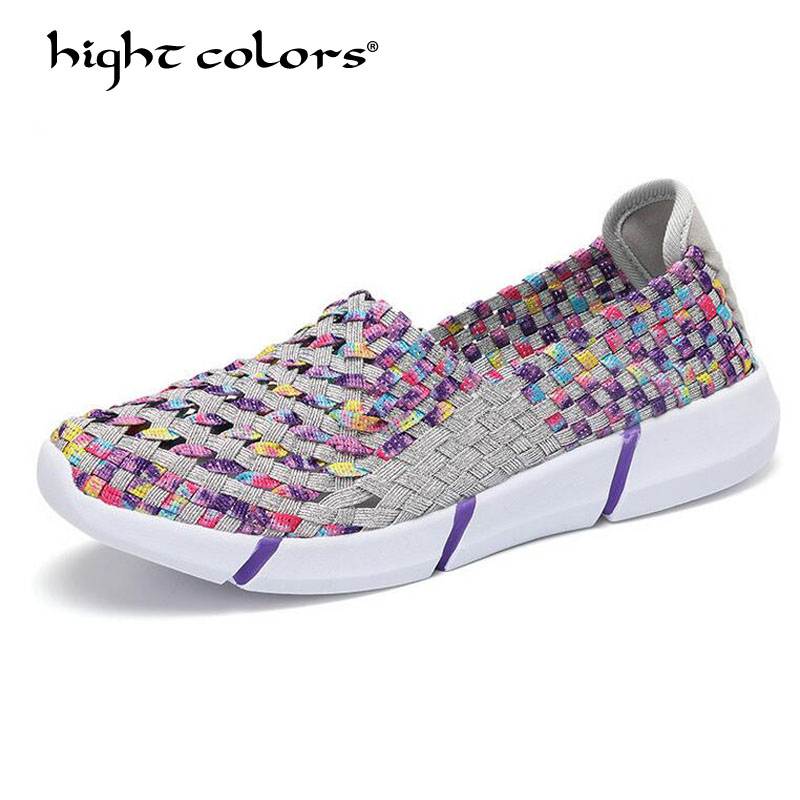 Hot sale 2018 Summer Women Flats Slip-On Shoes Woman Woven Flat Shoe Ladies Multi Colors Breathable Female Brand Loafers hot sale woman flat shoes breathable soft bottom wild women flats spring and autumn female loafers chaussure mujer 747
