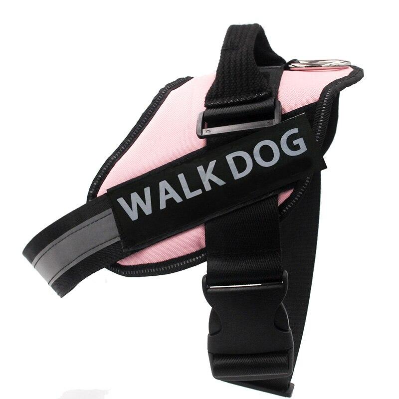 Dog Harness Breathable Pet Harness Vest Dog Collars for Small Medium Big Dog Nylon Dog Lead Belt Pitbull Bull Terrier Rottweiler