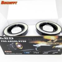 89mm 3 5inch 2pcs Pair Car Universal Waterproof COB LED Angel Eyes DRL Daytime Running Lights