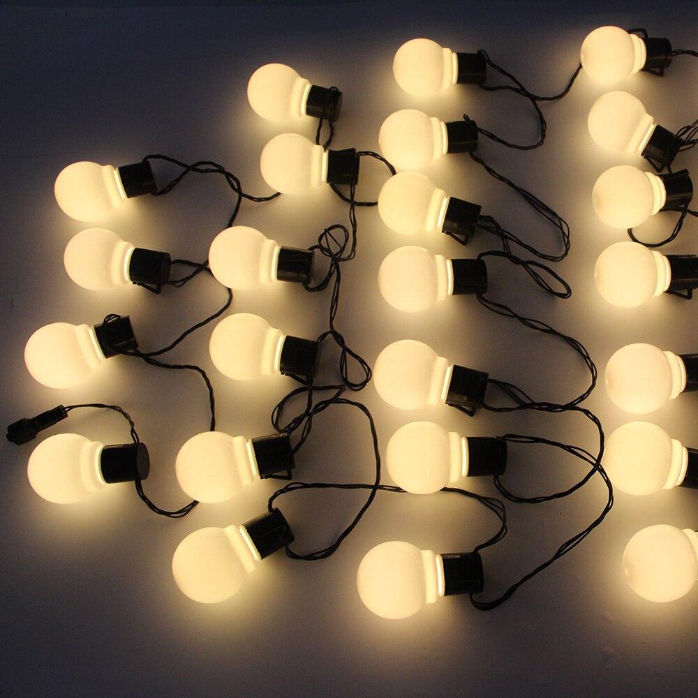 10M//38LED Bulb Pattern Waterproof String Lights Christmas Wedding Decoration New