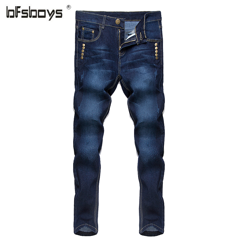 2016 New Men's White Blue Jeans Robin Men Slim Denim Skinny Pencil Pants Cowboy High Fashion Famous Design