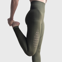 ФОТО one f hollow out sport leggings women widen high waist tummy control fitness gym leggings stretch compression squat yoga pants