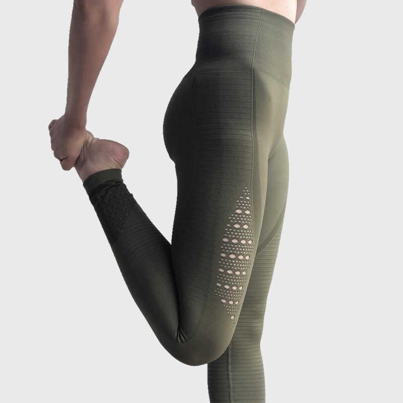e198dbe6765092 ONE F hollow out sport leggings women widen high waist tummy control  fitness gym leggings stretch