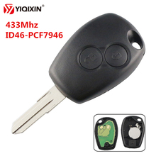 YIQIXIN 2 кнопки дистанционного ключа автомобиля для Renault Megan Modus Clio Modus Kangoo Logan Sandero Duster 433 МГц PCF7946 чип VAC102 лезвие