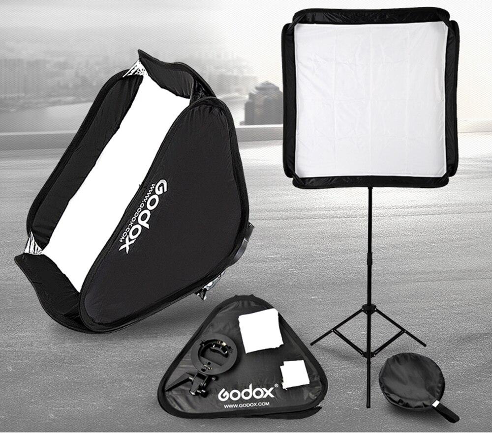 Godox Flash Softbox Kit 80cm * 80cm / 60cm*60cm / 40cm * 40cm + S Type Bracket Mount Kit For Flash Speedlite Studio Shooting