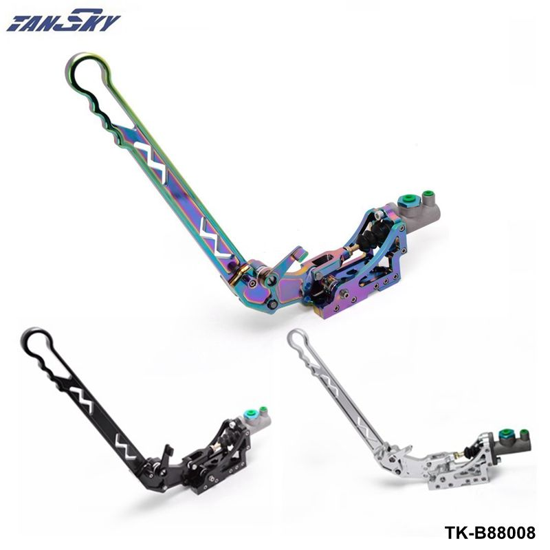TANSKY -Brake Rods Adjustable Aluminum Vertical Hydraulic Drifting Hand Brake With Special Master Cylinder TK-B88008-ALBZ best price 1002 100 38 41 hand hydraulic carrier polyurethane wheel with aluminum center