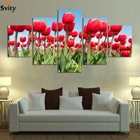 5 لوحة الحديث المطبوعة الأحمر روز زهرة قماش اللوحة جدار فن المعيشة غرفة الزفاف الديكور وحدات صور لا مؤطرة a71