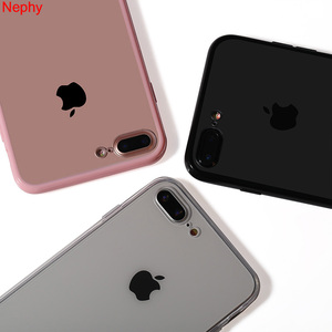 Nephy New Clear Case For iPhone XS Max X XR iPhone 6 6S 5 S 5S 5SE 7 8 Plus 6Plus 7Plus 8Plus Soft TPU+Hard PC Back Cover Casing(China)