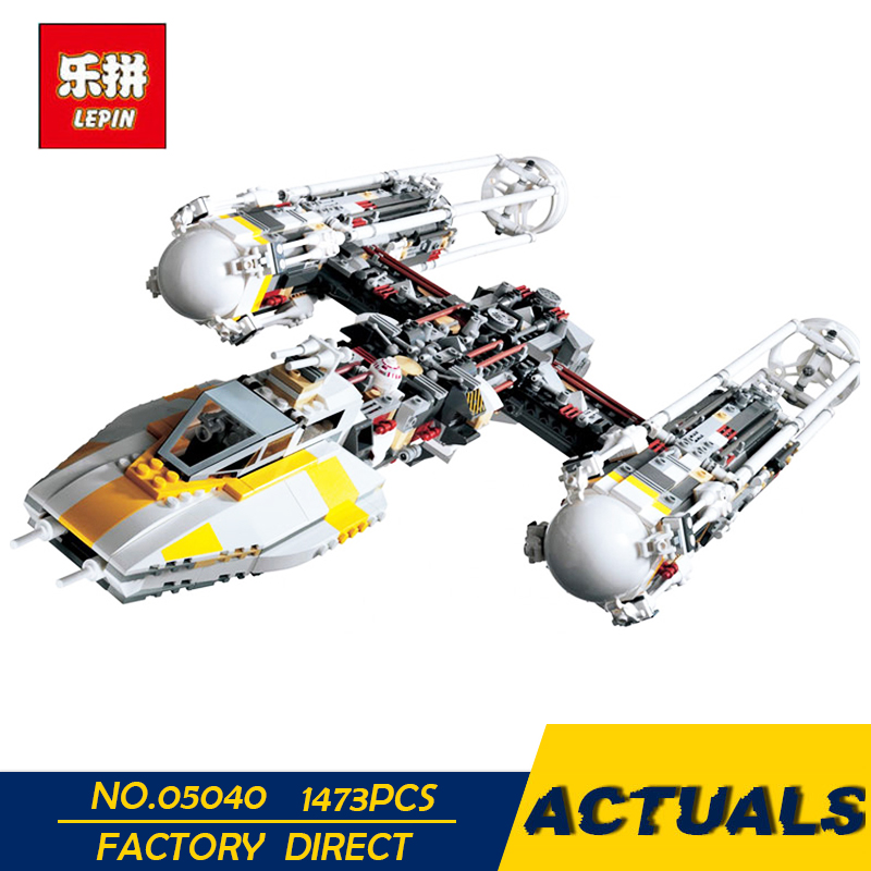 LEPIN 05040 Star Series Wars Y Star wing Attack fighter Building Assembled Block Brick DIY Toy Educational Gift Compatible 10134 lepin 05040 star series wars y star wing attack fighter building assembled block brick diy toy compatible 10134 educational gif