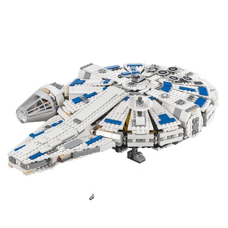 LEPIN Star Plan Wars 05142 Force Awakens Model Building Kits Blocks Kessel Run Millennuim Falcon