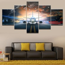 Air plane HD Print Painting 5 Piece Canvas Art Modern Decor painting on canvas poster Room Artwork