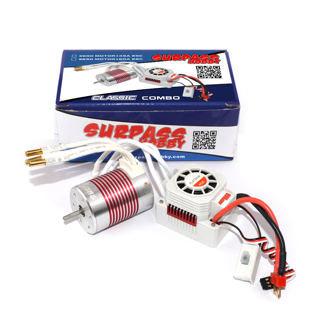 Platinum Waterproof 3650 4300KV Brushless Motor With 60A ESC Combo Suitable For 1:10 Rc Car Models