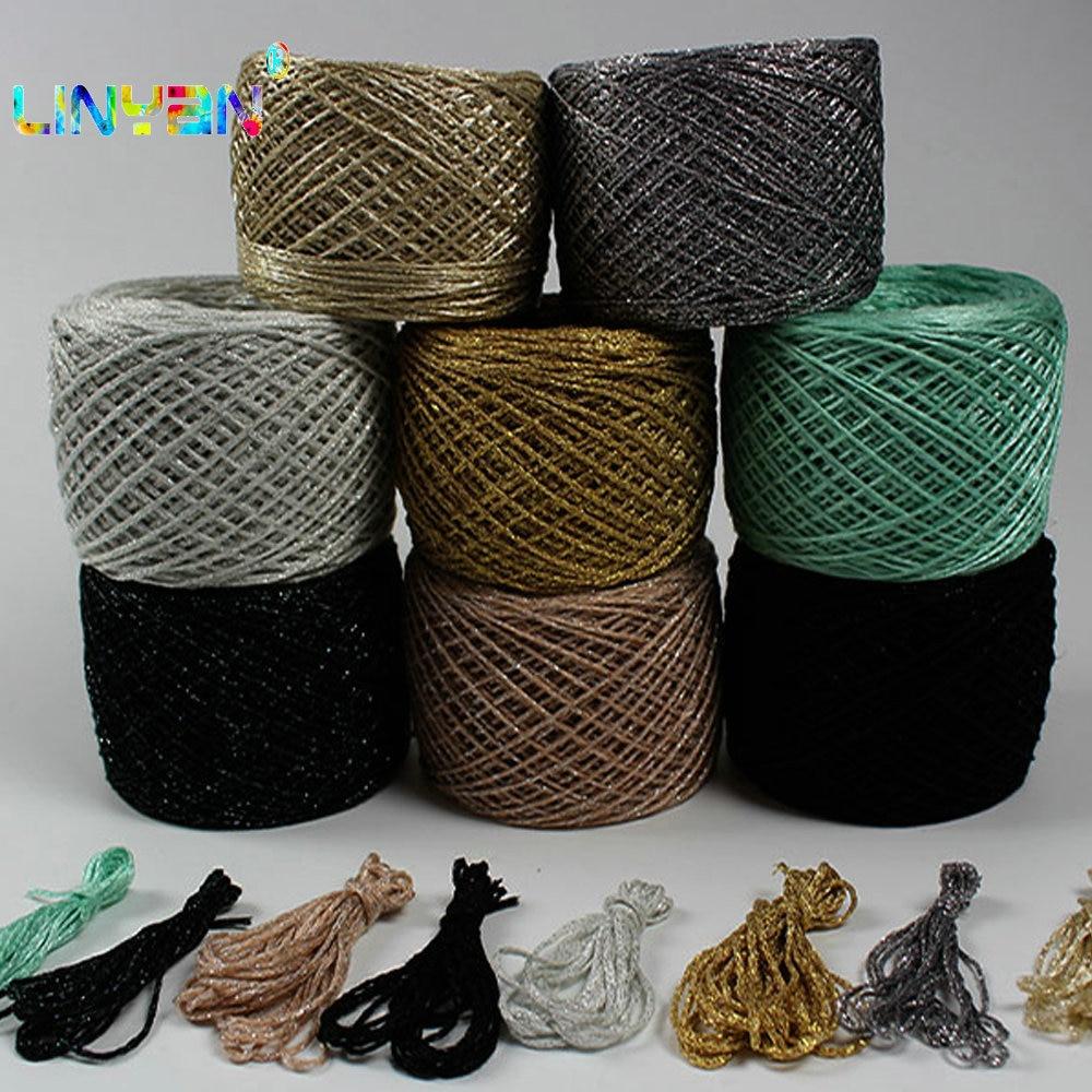 500g lot Yarns crochet Metallic Cotton metallized thread Hand Knitting Yarn For Knitting Crocheting matethreads DIY