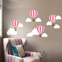 Ballon à Air chaud décor nuage mur autocollant Mural Sticker papier peint pépinière enfants bébé décoration chambre 80x160 cm maison de noël
