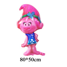 2pcs cartoon trolls foil balloon girl new style princess Poppy balloon trolls for girl gift and happy birthday balloon 6pcs lot trolls poppy branch biggie action figure toys cartoon moive brinquedos dreamworks trolls hug time poppy figure doll toy