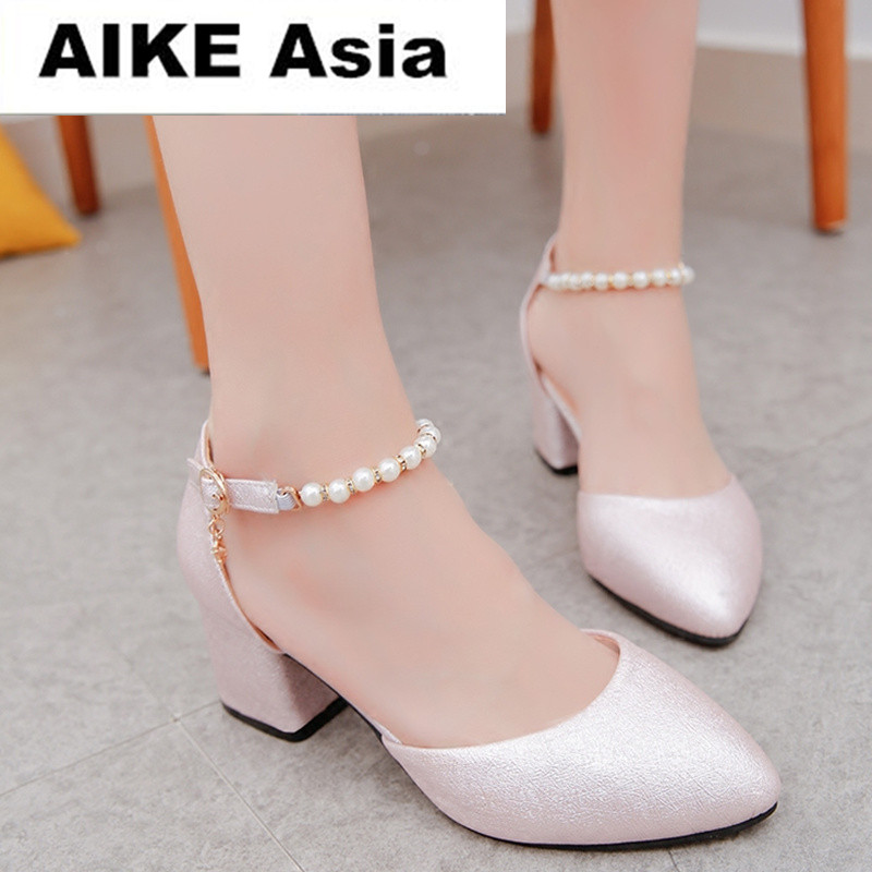 2019 Women Shoes Pointed Toe Pumps  Dress Shoes High Heels Boat Shoes Wedding Shoes tenis feminino String Bead  Side with #1632019 Women Shoes Pointed Toe Pumps  Dress Shoes High Heels Boat Shoes Wedding Shoes tenis feminino String Bead  Side with #163