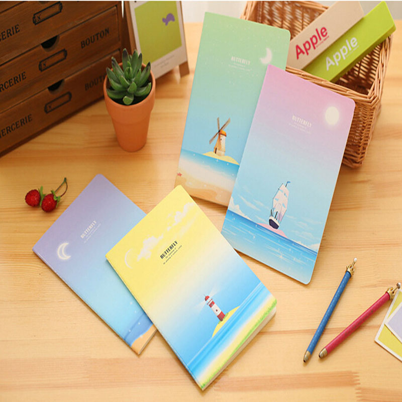 korea stationery color a5 creative notebook notebook keep quiet enron journal of the school office stationery - Enrob Color