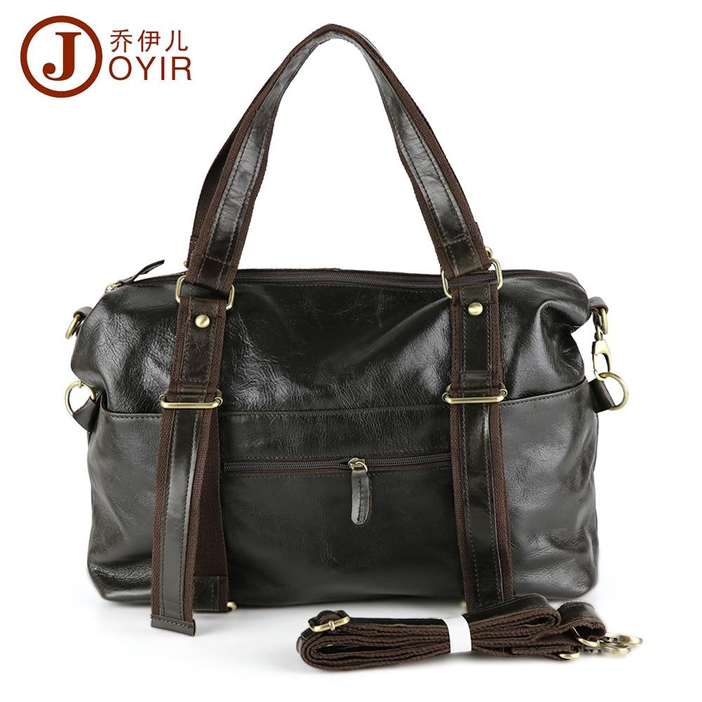 JOYIR Vintage genuine leather man shoulder bags cowhide leather crossbody bag men messenger bags large travel bag man gift B321 поиграй со мной