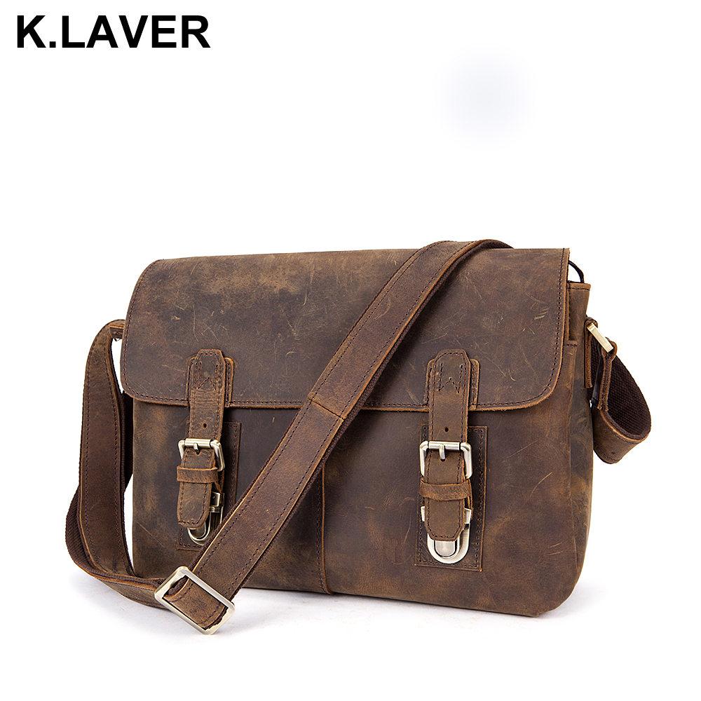 New Men Briefcase Genuine Leather Bag Crazy Horse Documents Office Bags for Mens Messenger Bag Men Shoulder Business Laptop Bags new men s crazy horse genuine leather messenger shoulder pack documents business portable clutch bag portable wrist bag