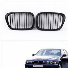 Hot Sale 2Pcs Matte Black Front Kidney Racing Grilles for BMW E39 5 Series 1998-2003