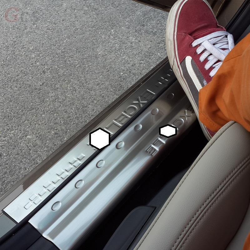 Porte pied pédale Automobile Auto décorative voiture style accessoire décoration Protecter 15 16 17 18 19 pour Buick Excelle GT - 3