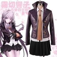 Anime Dangan Ronpa Danganronpa Kirigiri Kyoko Cosplay Costume with glovess Custom Made