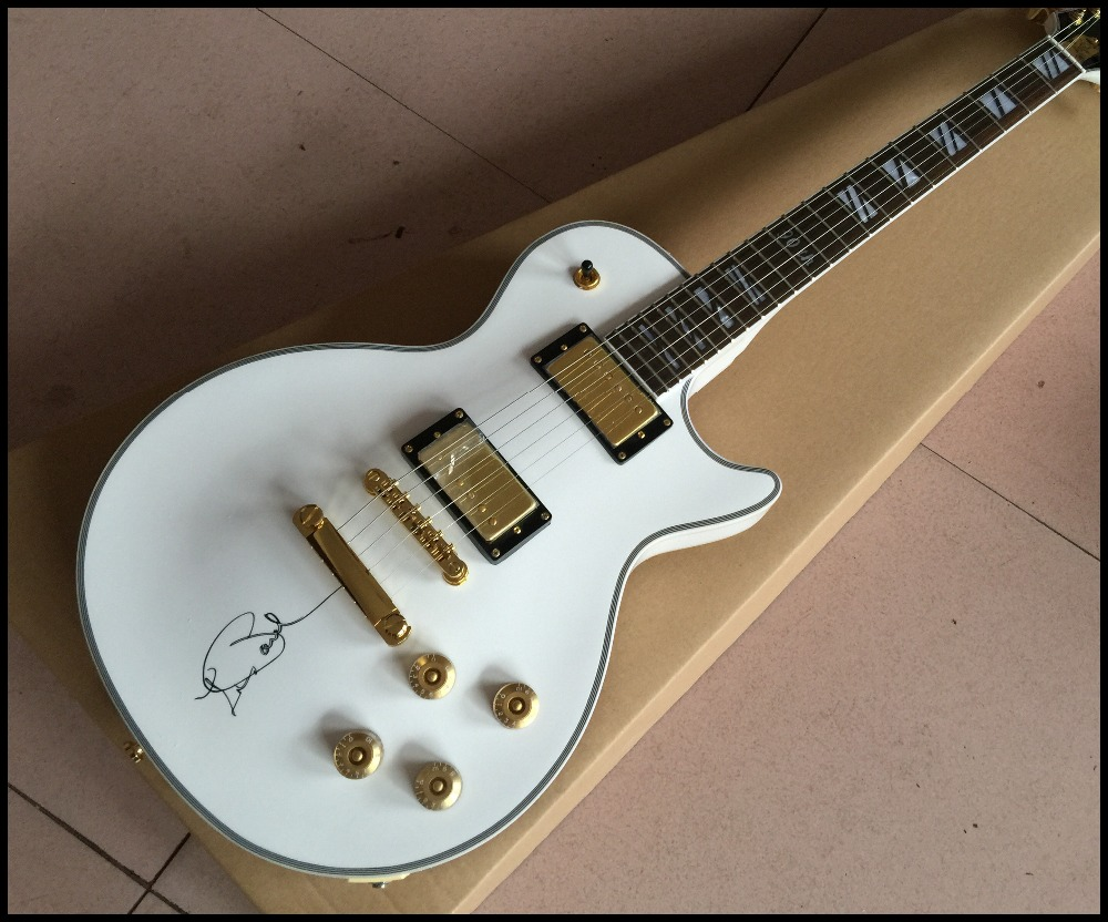 hot selling chinese electric guitar white color 90th guitarra real photo showing some. Black Bedroom Furniture Sets. Home Design Ideas