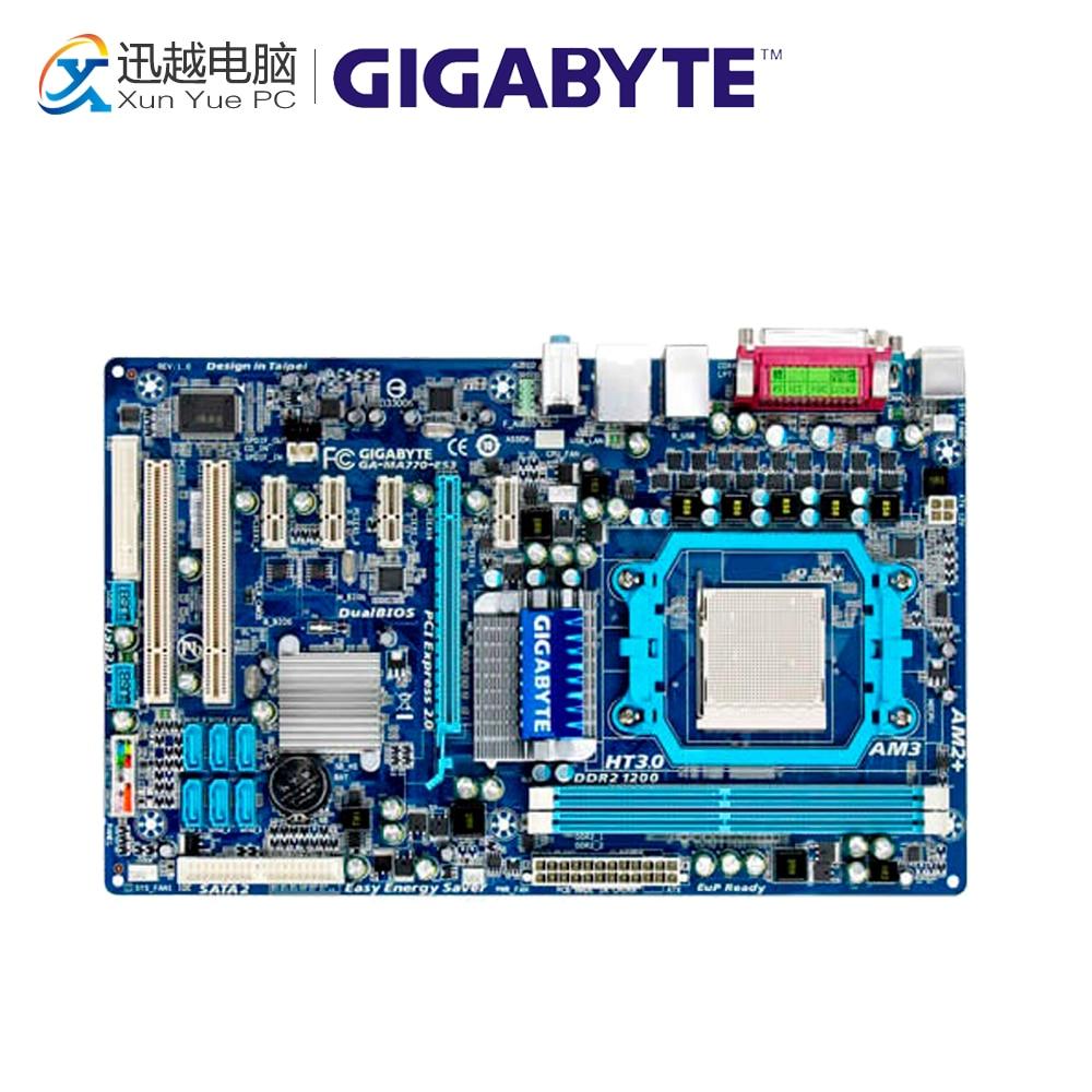 Gigabyte GA-MA770-ES3 Desktop Motherboard MA770-ES3 770 Socket AM3 DDR2 SATA2 USB2.0 ATX gigabyte ga ma780g ud3h original used desktop motherboard 780g socket am2 ddr2 sata2 usb2 0 atx