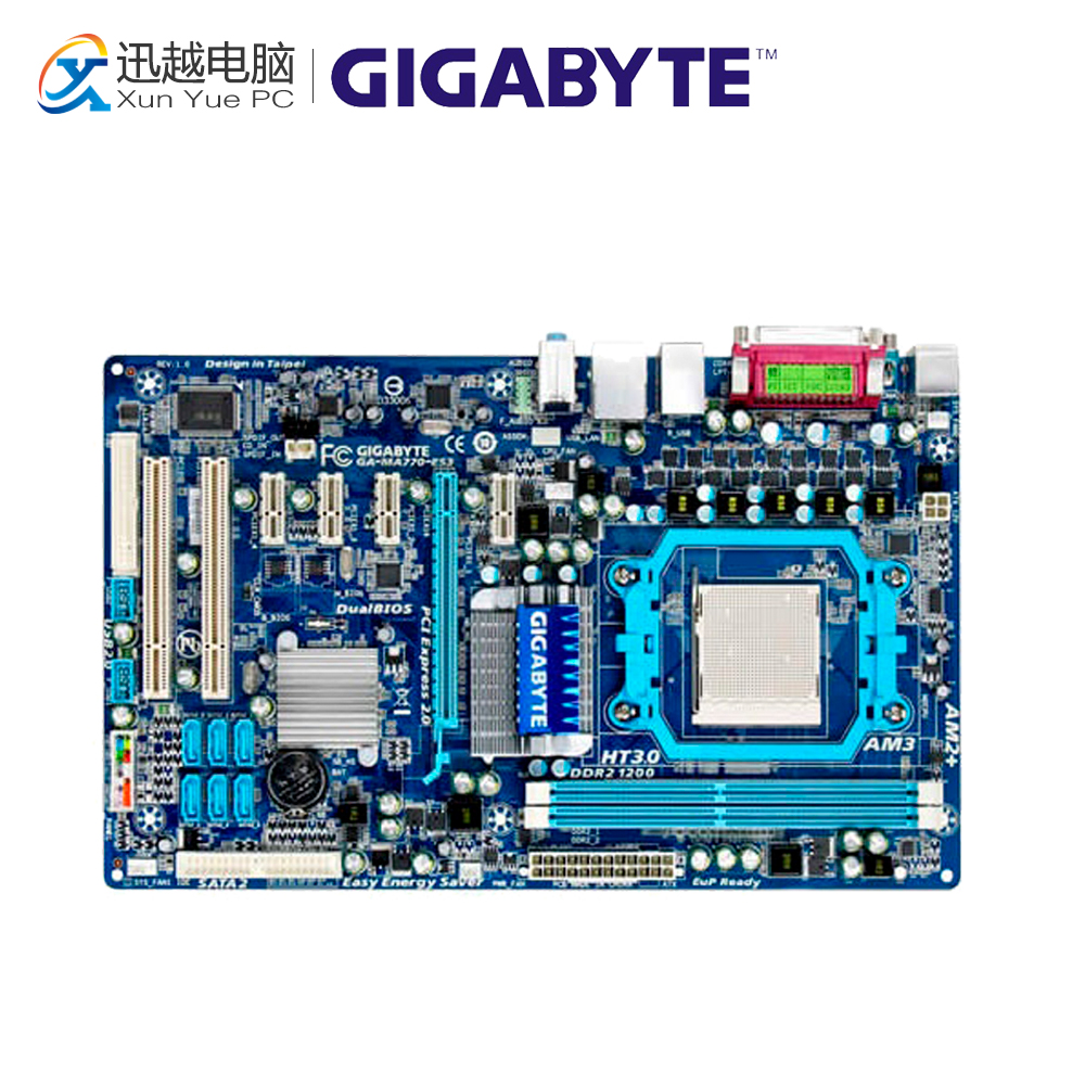Gigabyte GA-MA770-ES3 Desktop Motherboard MA770-ES3 770 Socket AM3 DDR2 SATA2 USB2.0 ATX цена